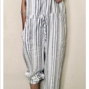 Anthropologie Drew Striped Jumpsuit Size small
